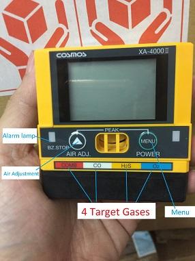 Máy đo khí CO O2 H2S LEL XA-4400II dùng trong Mỏ