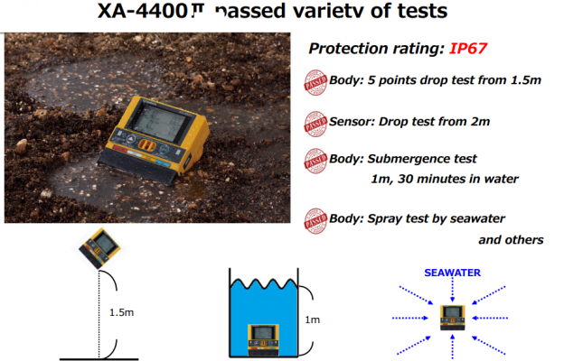 Lưu ý về khả năng chống bụi, nước khi sử dụng máy đo 4 loại khí XA-4400II