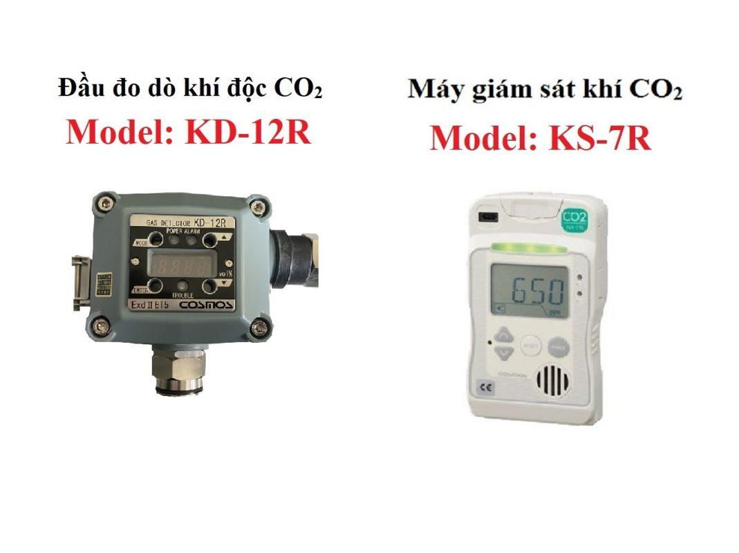 So sánh đầu đo khí CO2 KD-12R và KS-7R