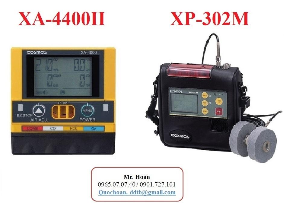 So sánh máy đo khí XP-302M và XA-4400II
