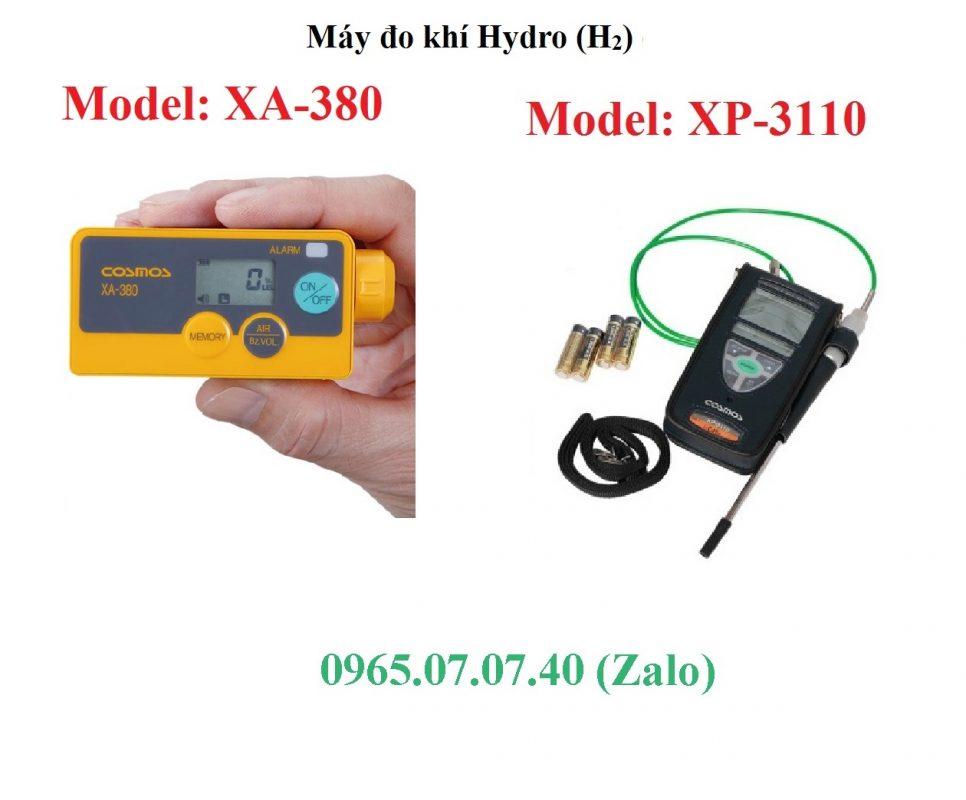 So sánh máy đo khí Hydrogen H2 XA-380 và XP-3110 Cosmos